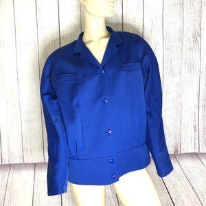 Louis Féraud Royal blue bomber style jacket 12